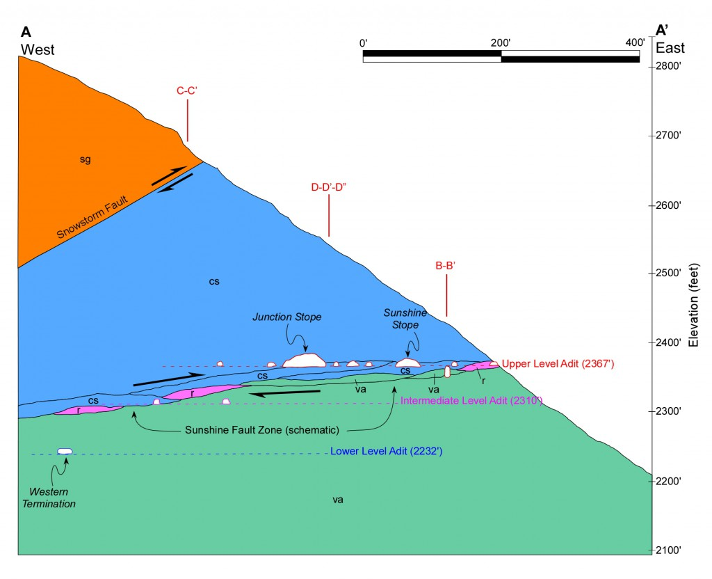 2014-04-02 Conway Bayhorse Geology Section A