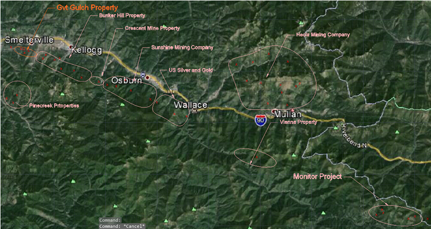 Silver Valley Idaho Map.Bayhorse Enters Option Agreement To Earn 75 Interest In Silver
